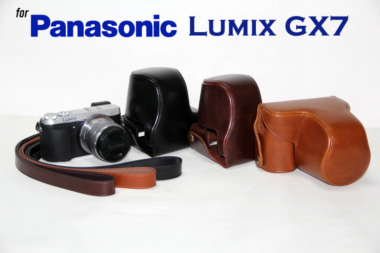 Leather Case Holster for Panasonic GX7 Telephoto Zoom