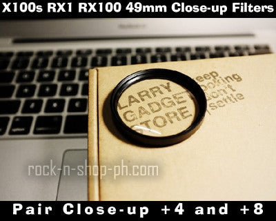 [Larry Gadget Store] 49mm Pair NL4 NL8 Close-up Filters for X100s RX1 RX100