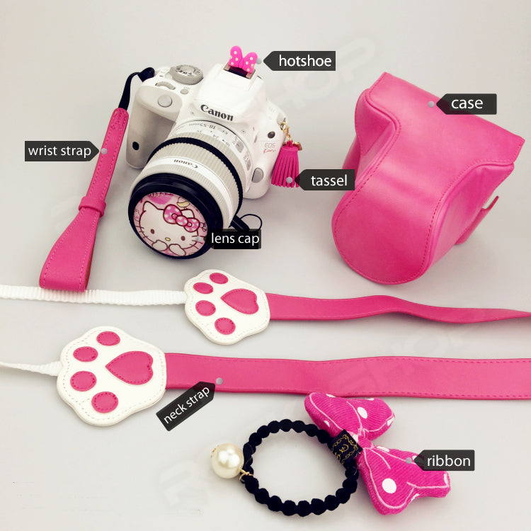 Pink Hello Kitty Accessories for Fujifilm Sony Canon