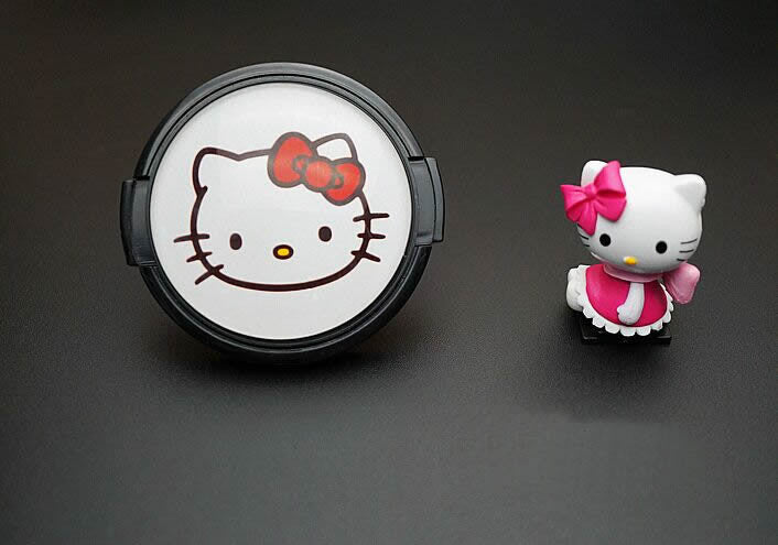 Cartoon Hello Kitty Lens Cap and Hotshoe Cover for Canon 100D 70D 80D