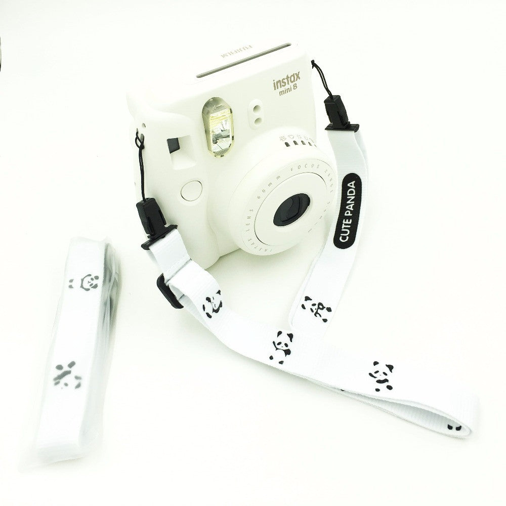 Camera Strap for Fujifilm Instax Mini (Panda Black And White)