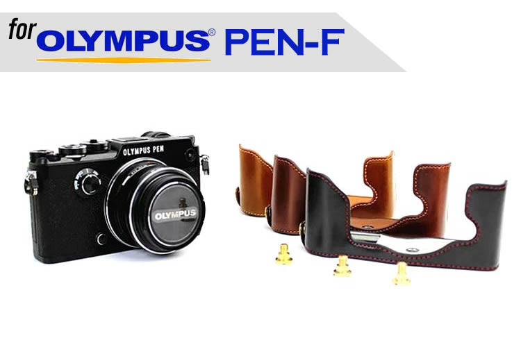 Leather Half Case for for Olympus PEN-F