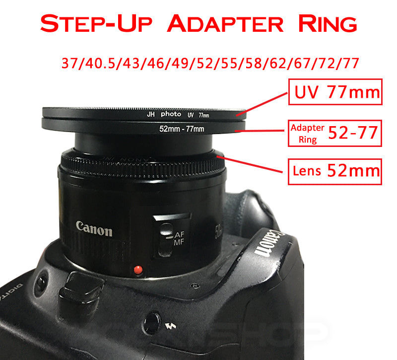 Lens Step-Up Filter Adapter Ring