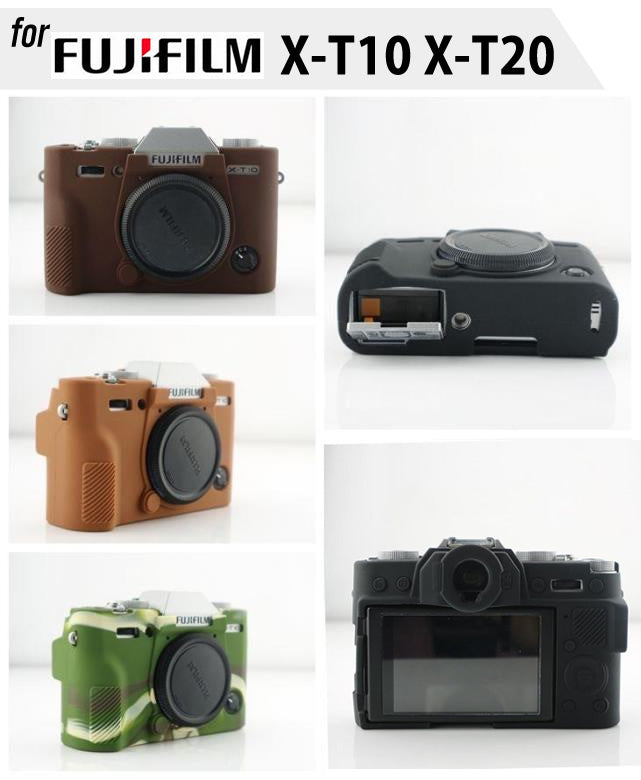 Silicone Rubber Case For Fujifilm X-T10 X-T20 (version 2)