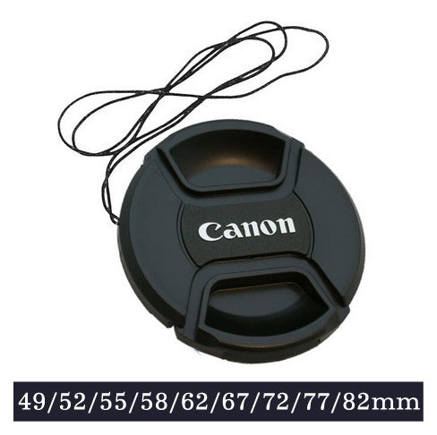 Snap-on Lens Cap Cover with Cord for Canon