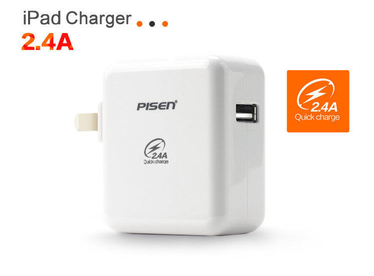 Pisen USB Charger 2.4A for Apple iPhone/iPad