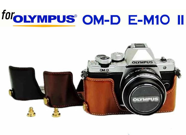 Leather Half Case for Olympus OM-D E-M10 II (version 2)