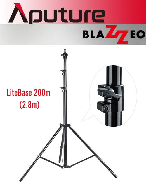 Aputure Blazzeo LiteBase 200m (2.8m) Light Stand Tripod for Photo Studio Video Lighting