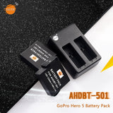 DSTE AHDBT-501 1230mAh Battery and Charger for GOPRO HERO 5
