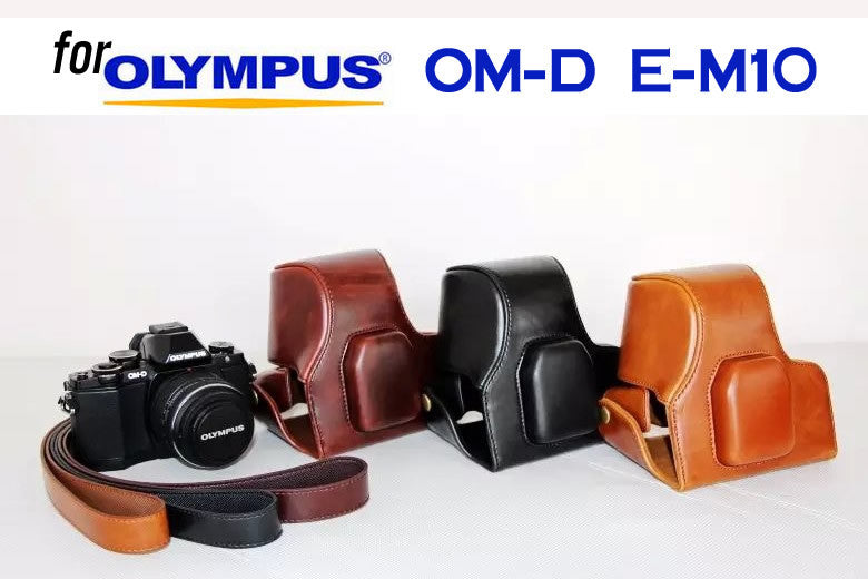 Leather Case Holster for Olympus OM-D E-M10