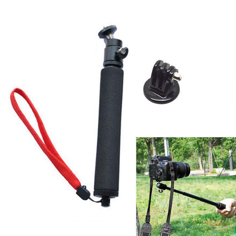 Monopod with Red Wrist Strap for GoPro Camera