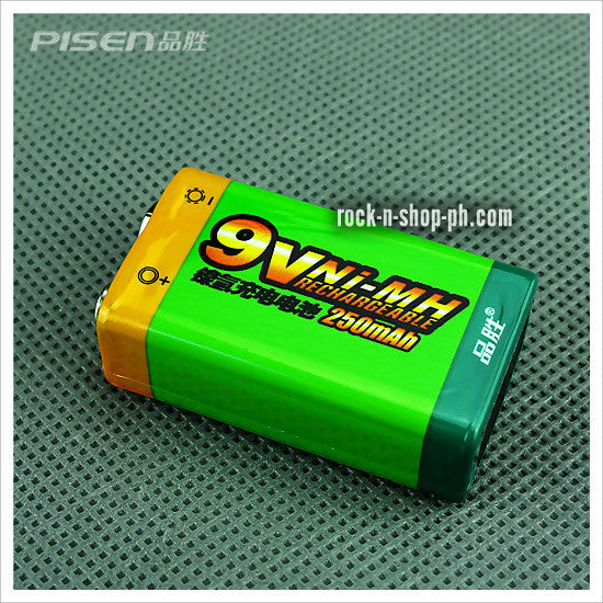 Pisen 250mAh 9V Rechargeable Battery