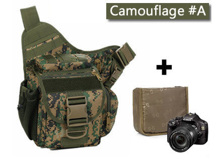 Campsnail D5 Column Army Messenger Camera Bag