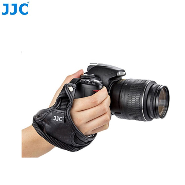 JJC HS-N Leather Hand Grip Strap with Grip Wheel