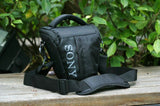 Triangular Bag with Strap and Raincover for Sony