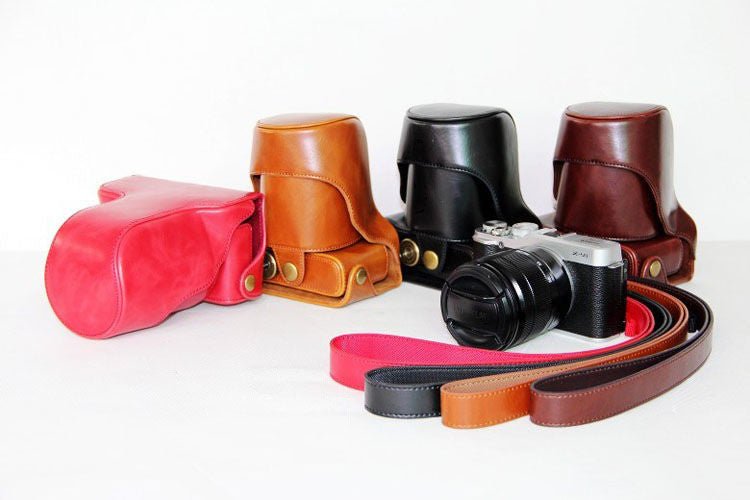 Leather Case Holster for Fujifilm X-E1 X-E2 X-E2S