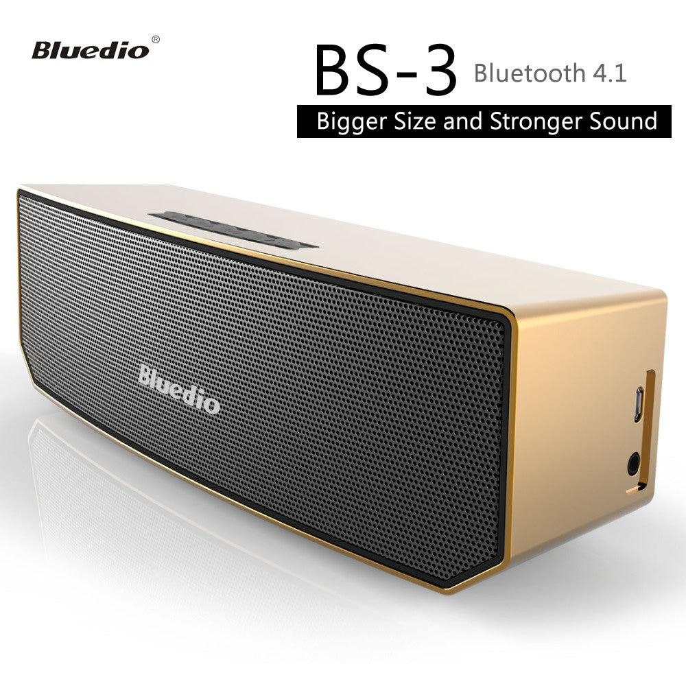 Bluedio BS-3 Mini Bluetooth V4.1 Speaker Portable Wireless Loudspeaker System with 3D Stereo Music Sound