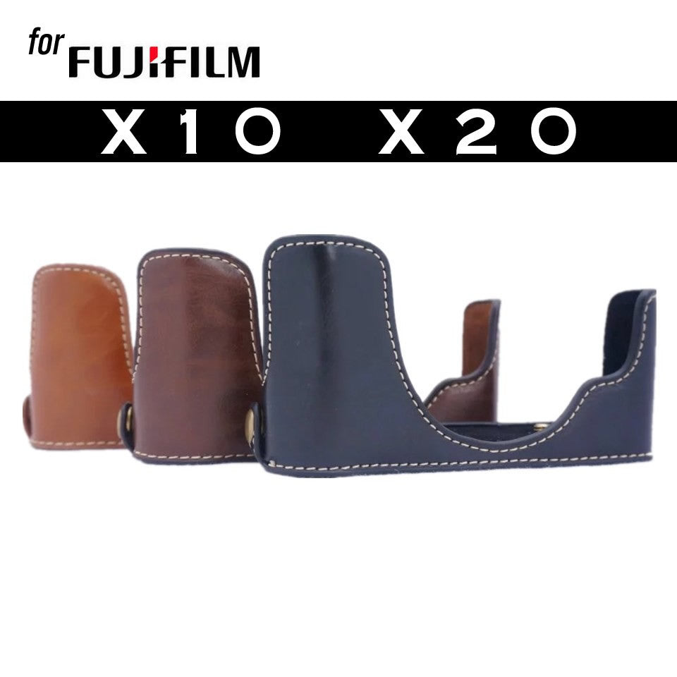 Leather Half Case for Fujifilm X10 X20