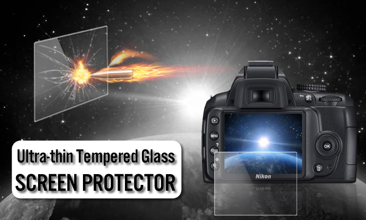 Ultra-thin Tempered Glass Screen Protector for Canon Fujifilm Sony