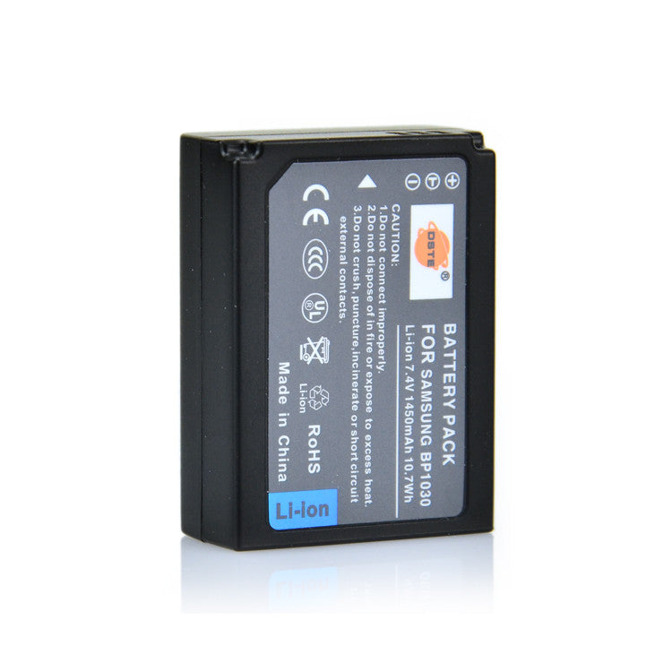 DSTE BP1030 BP1130 1,450mAh Battery and Charger for Samsung NX200 NX1000 NX2000 NX210 NX300