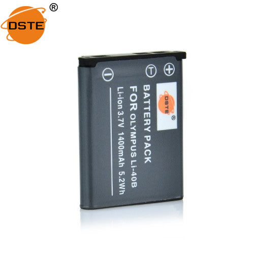 DSTE Li-40B NP-45 1400mAh Battery and Charger for Fujifilm J30 J26 JV100 Z200 Z250 Z950