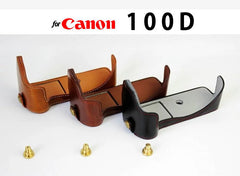 Leather Half Case for Canon 100D