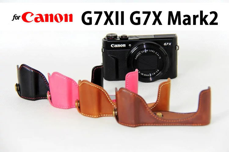 Leather Half Case for Canon G7XII G7X Mark2