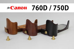 Leather Half Case for Canon 760D