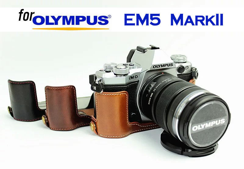 Leather Half Case for For Olympus EM5II EM5 MarkII