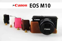 Leather Half Case for Canon EOS M10 / M100 (version 2)