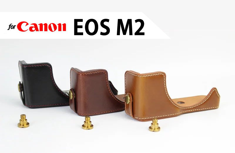 Leather Half Case for Canon EOS M2