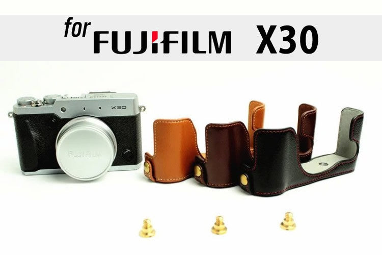 Leather Half Case for FujiFilm X30 (version 2)