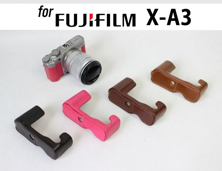 Leather Half Case for FujiFilm X-A3 X-A10