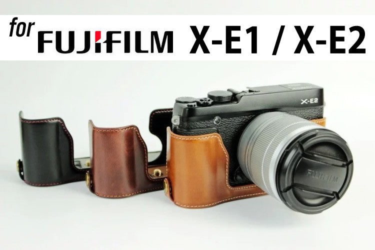 Leather Half Case for FujiFilm X-E1 X-E2 (version 2)