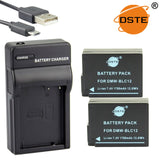DSTE DMW-BLC12 1700mAh Battery and Charger for Panasonic DMC-FZ200GK GH2 G5 G6 G5GKDMC-FZ200GK GH2 G5 G6 G5GK