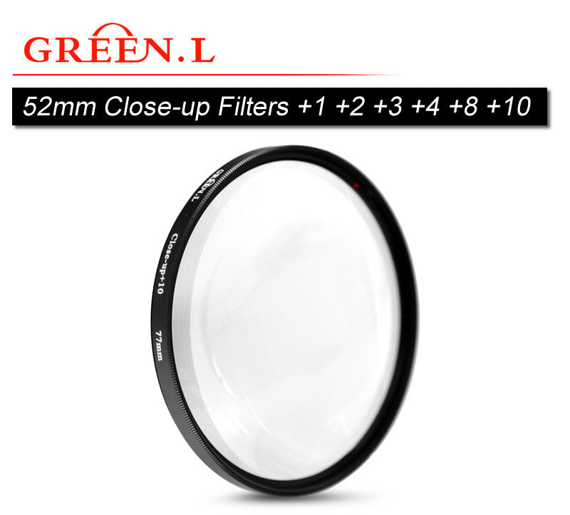 GreenL 52mm Close-up Filter +1 +2 +3 +4 +8 +10