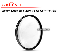 GreenL 58mm Close-up Filter +1 +2 +3 +4 +8 +10