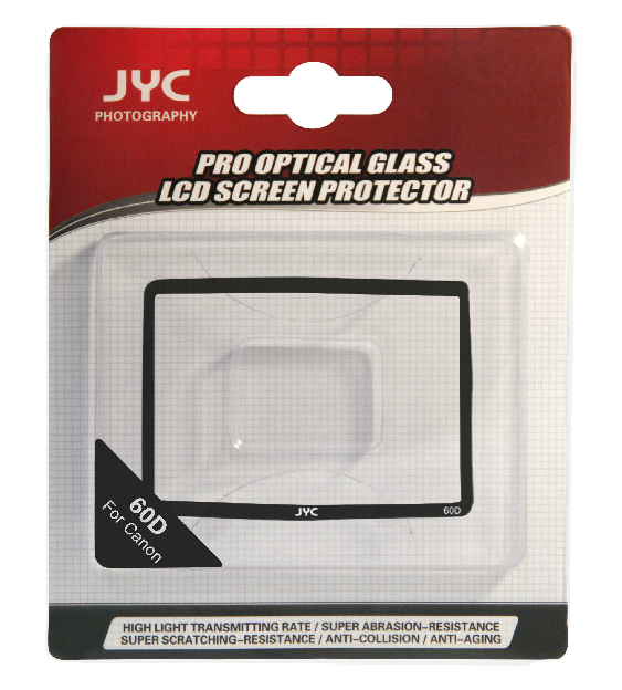 JYC Camera Glass LCD Screen Protector Cover Film for Canon 60D