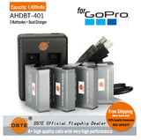 DSTE AHDBT-401 1400mAh Battery and Charger for GOPRO HERO4 / 4 + sports camera