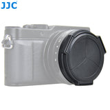 JJC Auto Lens Cap for Panasonic LUMIX DMC-LX100 and LEICA D-LUX(Typ 109) Camera