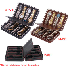 Double Layer 8 Slots Leather Watch Box