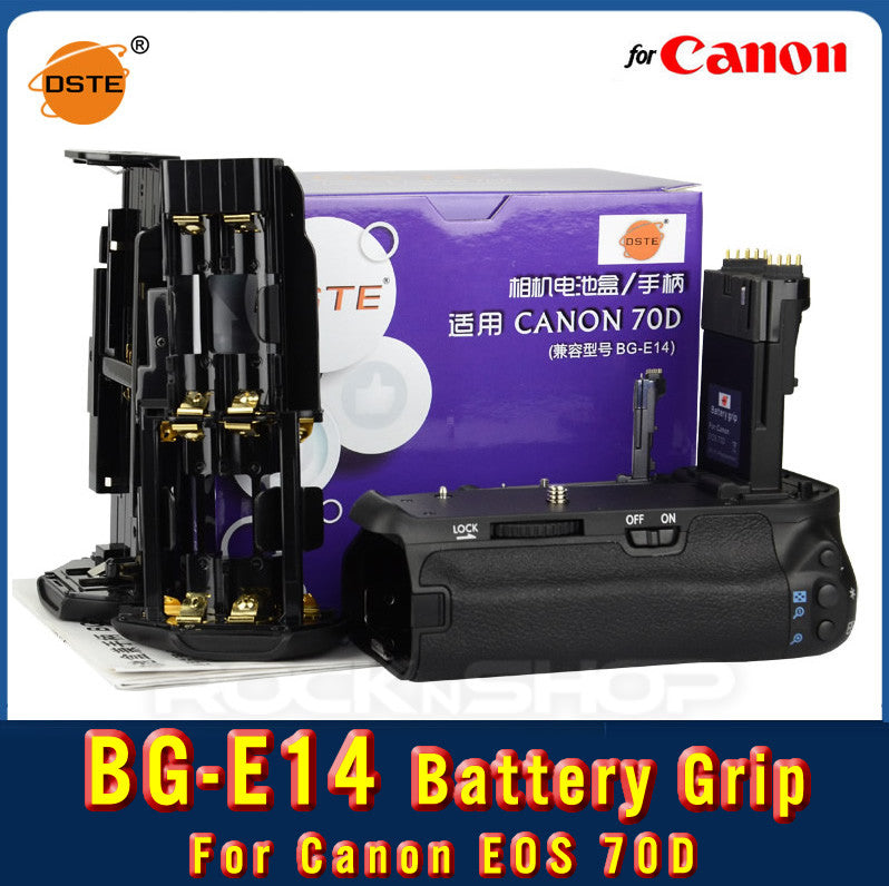 DSTE BG-E14 Battery Grip for Canon EOS 70D 80D