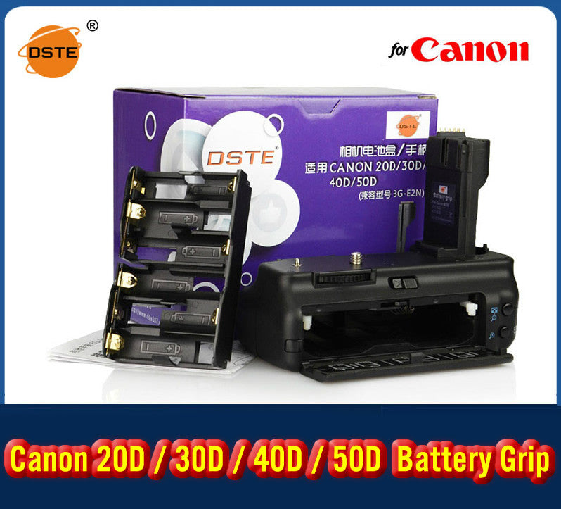 DSTE BG-E2N Battery Grip for Canon EOS 40D 20D 30D 50D C40DA Camera as BP-511