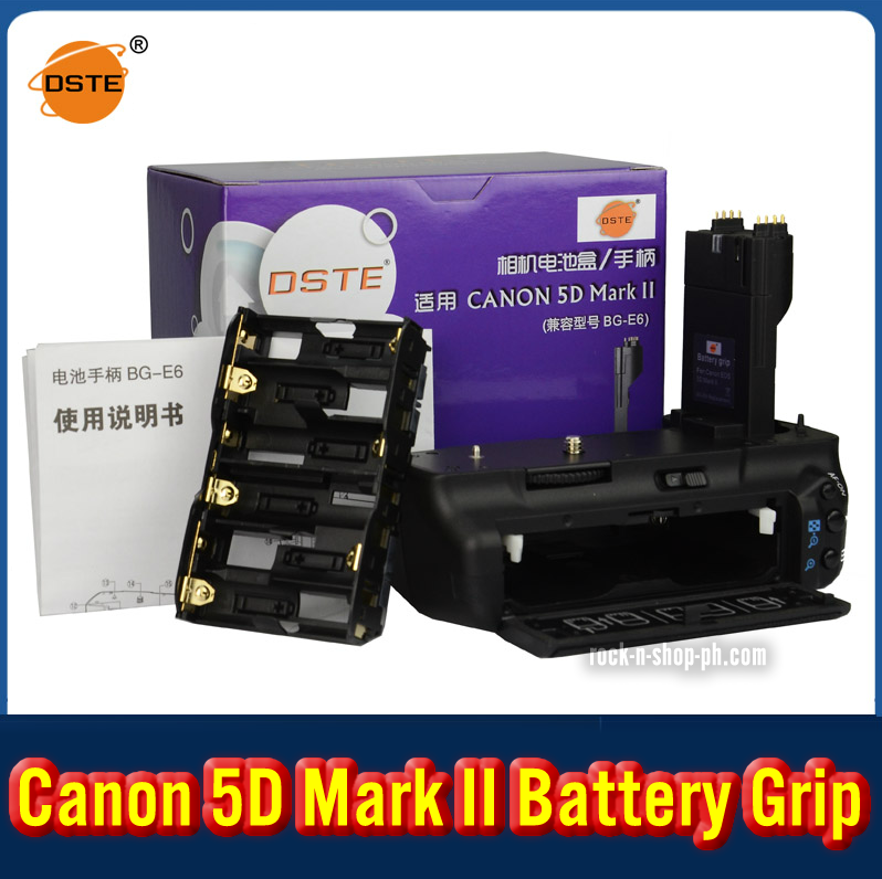 DSTE BG-E6 Battery Grip For Canon 5D Mark II 5D2
