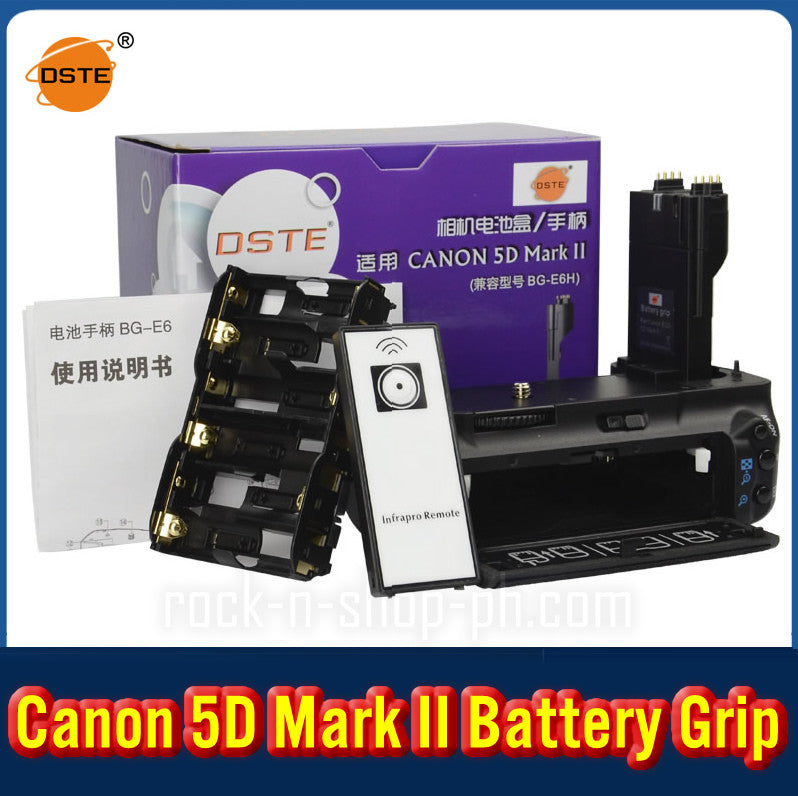 DSTE BG-E6H Battery Grip For CANON 5D Mark II 5D2