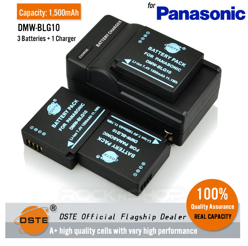 DSTE DMW-BLG10 1500mAh Battery or Charger for Panasonic DMC-GF6