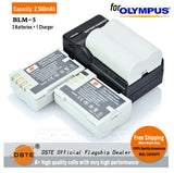DSTE BLM-5 2500mAh Battery and Charger for Olympus E3 E520