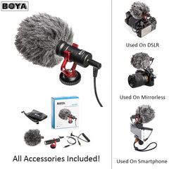 BOYA BY-MM1 Shotgun Video Microphone for Camera and Smart Phone