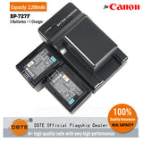 DSTE BP-727F 2950mAh Battery and Charger for Canon R506 BP-709 HF R300