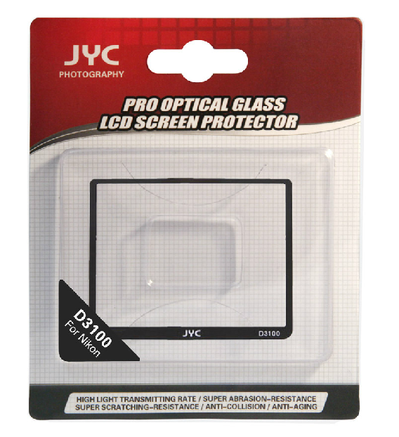 JYC Camera Glass LCD Screen Protector Cover Film for Nikon D3100